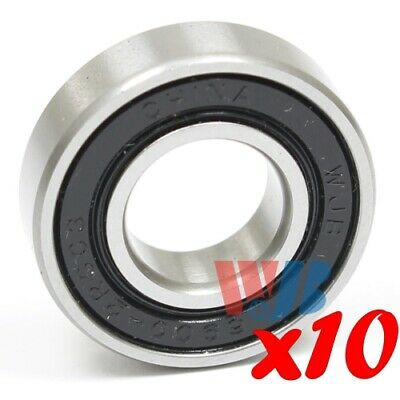 Set of 10 RADIAL BALL BEARING WJB 6900-2RSC3 2 RUBBER CONTACT SEALS 741-05140 C3