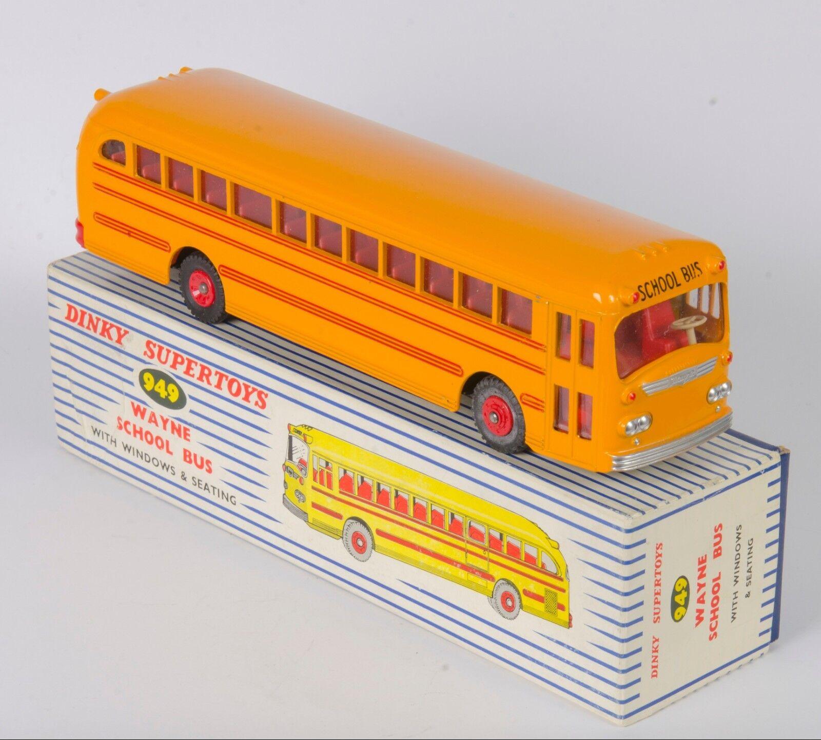 Dinky 949 Wayne School Bus. Red Line Version. VNMint in Striped Box. 1960's
