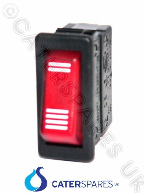 GENUINE DUALIT 2 & 4 SLICE SELECTOR SWITCH 230V 3 PIN RED NEON ROCKER PART 00034