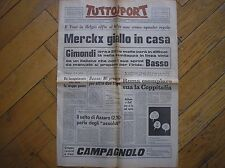 TOUR DE FRANCE BASSO MERCKX WOLUWE ST. PIERRE TAPPA ETAPE TUTTOSPORT 30/6/1969