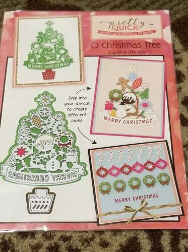 Pretty Quick 2 Piece Die Cut O Christmas Tree
