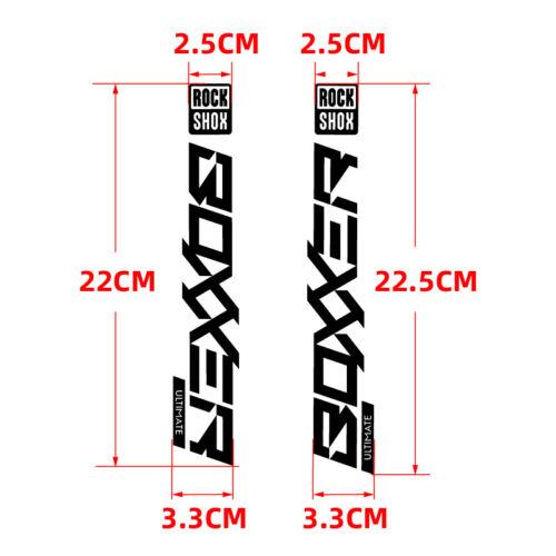 2020 BOXXER ROCKSHOX Fork Sticker for MTB Rock Shox Mountain Bike Cycling Decals