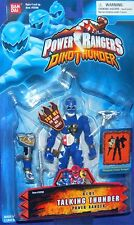 """Power Rangers Dino Thunder BLUE Ranger Talking New 5"""" Factory Sealed 2003"""