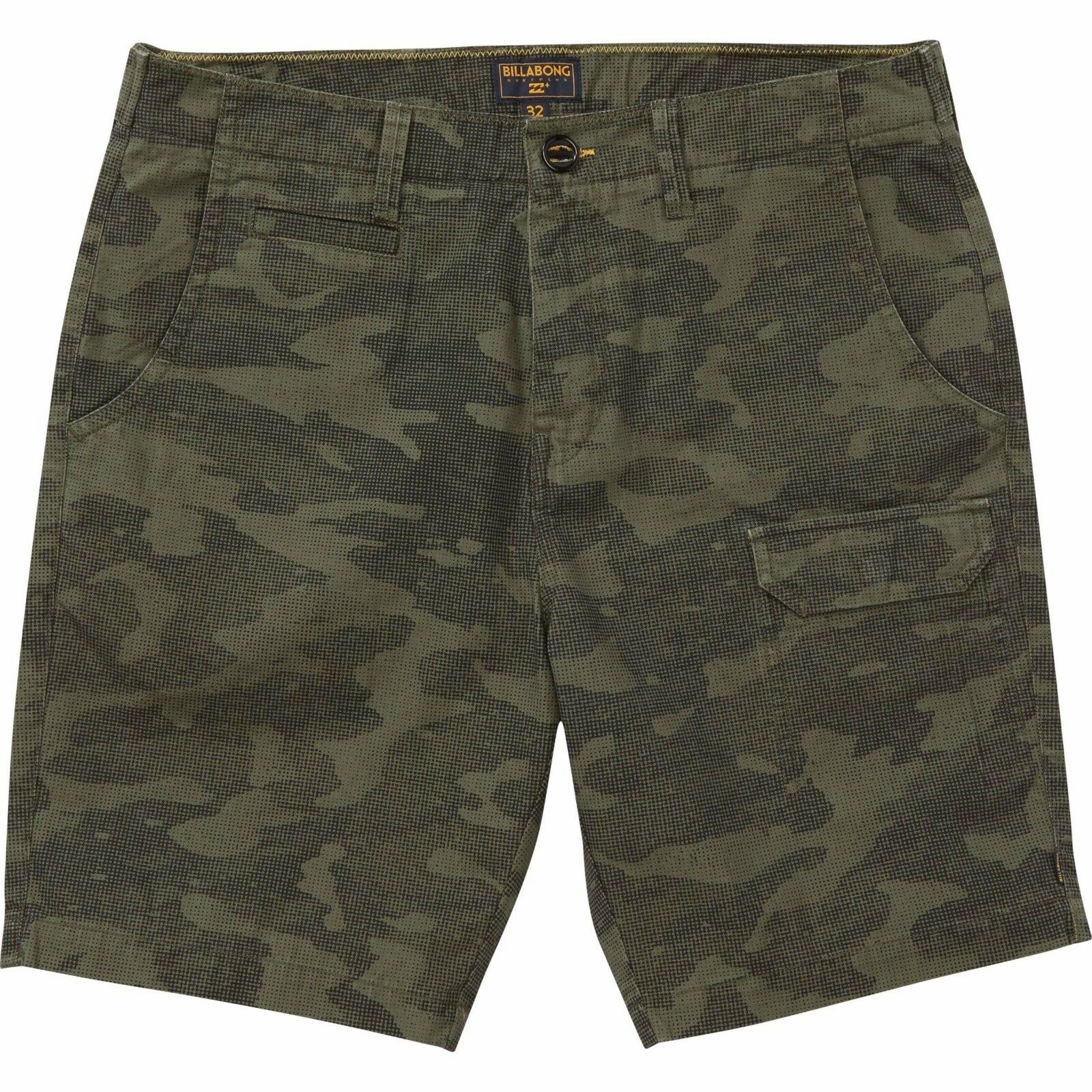 2016 NWT MENS BILLABONG VANDERBERG SHORTS  32 fatigue camo slub canvas