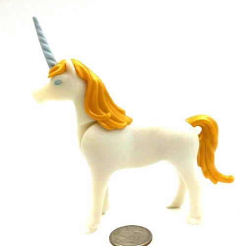 Playmobil Unicorn Large White Gold Tail /& Mane /& Blue Horn Fairytale Magic  A35