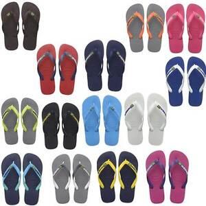 7b07693c1cc6c3 Image is loading Havaianas-Brazil-Logo-Womens-Pink-Blue-Flip-Flops