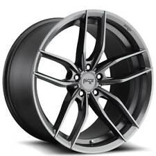 4 22 Staggered Niche Wheels M204 Vosso Matte Anthracite Rimsb47 Fits 2012 Jeep Grand Cherokee