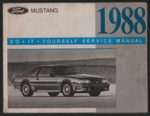 Ford mustang 1988 do it yourself service manual ebay image is loading ford mustang 1988 do it yourself service manual solutioingenieria Choice Image