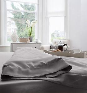 Jasmine-silk-100-19-mm-Charmeuse-Seide-Bettbezug-Grau-Doppel