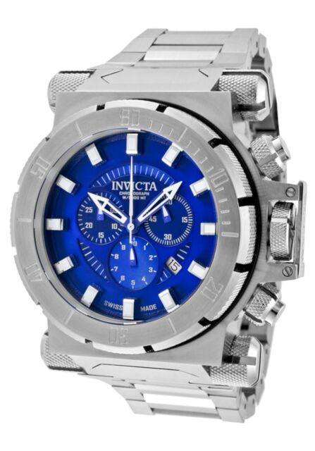 Neue Invicta 1939 Herren Coalition Force Analog Chronograph Blau Dial SS Uhr 100m