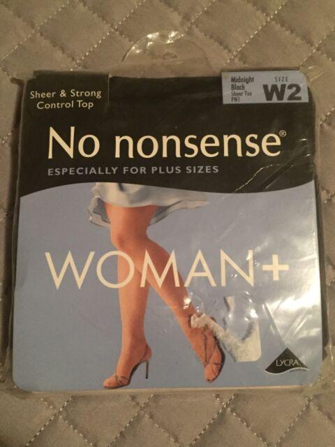 No Nonsense 3 Pair Pack Control Top Nylon Leg Sheer Toe Tan Pantyhose Size Plus