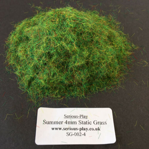 Model Scenery Warhammer Railway Green base Serious-Play Summer Static Grass 4mm