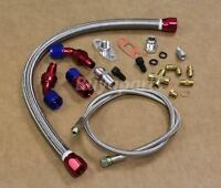 Turbo Oil Return Drain Line & Oil Feed Line Kit For T3 T4 T3/t4 T04e Charger