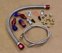 Turbo Oil Return Drain Line & Oil Feed Line Kit For T3 T4 T3/t4 T04e Charger