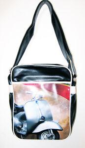 f5737583b3 Image is loading Retro-overnight-gym-holdall-flight-school-bag-Vespa-