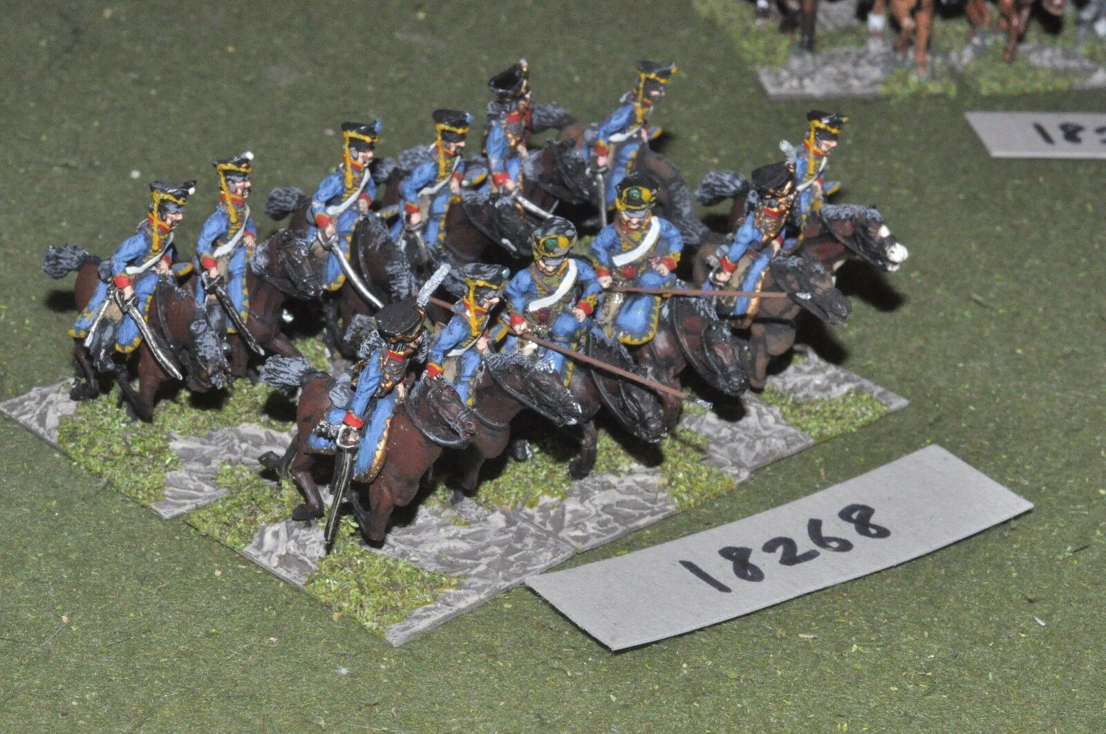 25mm napoleónicas ruso-Hussars 12 de Caballería-CAV (18268)