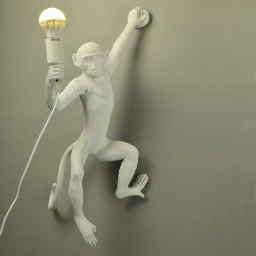Modern Monkey Table Lamp Nordic Aap Light Resin Simian Hanging Rope Wall Lights