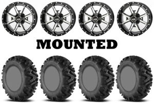 Kit 4 EFX MotoMTC Tires 26x9-14/26x11-14 on Frontline 556 Machined Wheels SRA