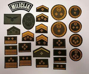 Kroatien 5 Militär Stoff Abzeichen Dienstgrade Croatia Military Patches Ranks