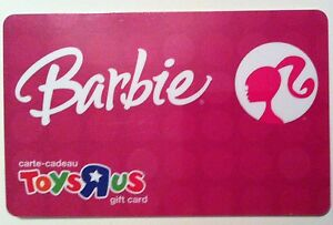 Barbie Classic Toysrus Pink Gift Card Rechargeable Bilingual Nice Ebay
