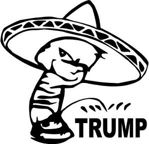 mexico-mariachi-donald-sombrero-mexican-VINYL-DECAL-STICKER-3979