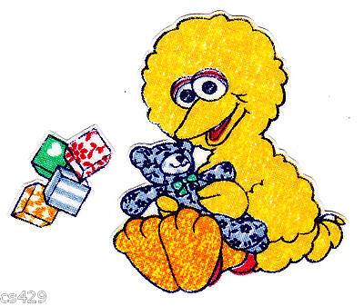 "2.5/"" Sesame street babies baby elmo block set fabric applique iron on character"