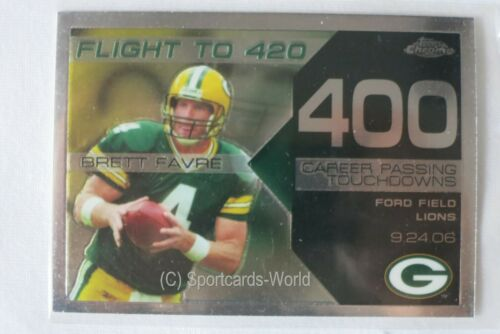 13 218 263 282 290 305.. Brett Favre-topps chrome Flight to 420 Insert cartes