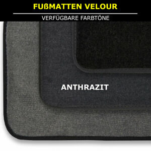 Velour Fußmatten Passend für VW Passat B3 3A/35I/Var (1988-1997) - Anthrazit 4tl