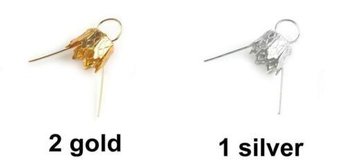 10pc Christmas Bauble Hangers With Caps Diy Caps Vintage Caps Loop Bead Caps ...