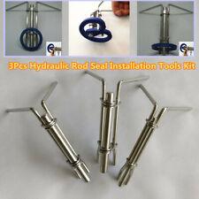 3 Piece Hydraulic Cylinder Piston Rod Seal U Cup Installation Tool Set Kit