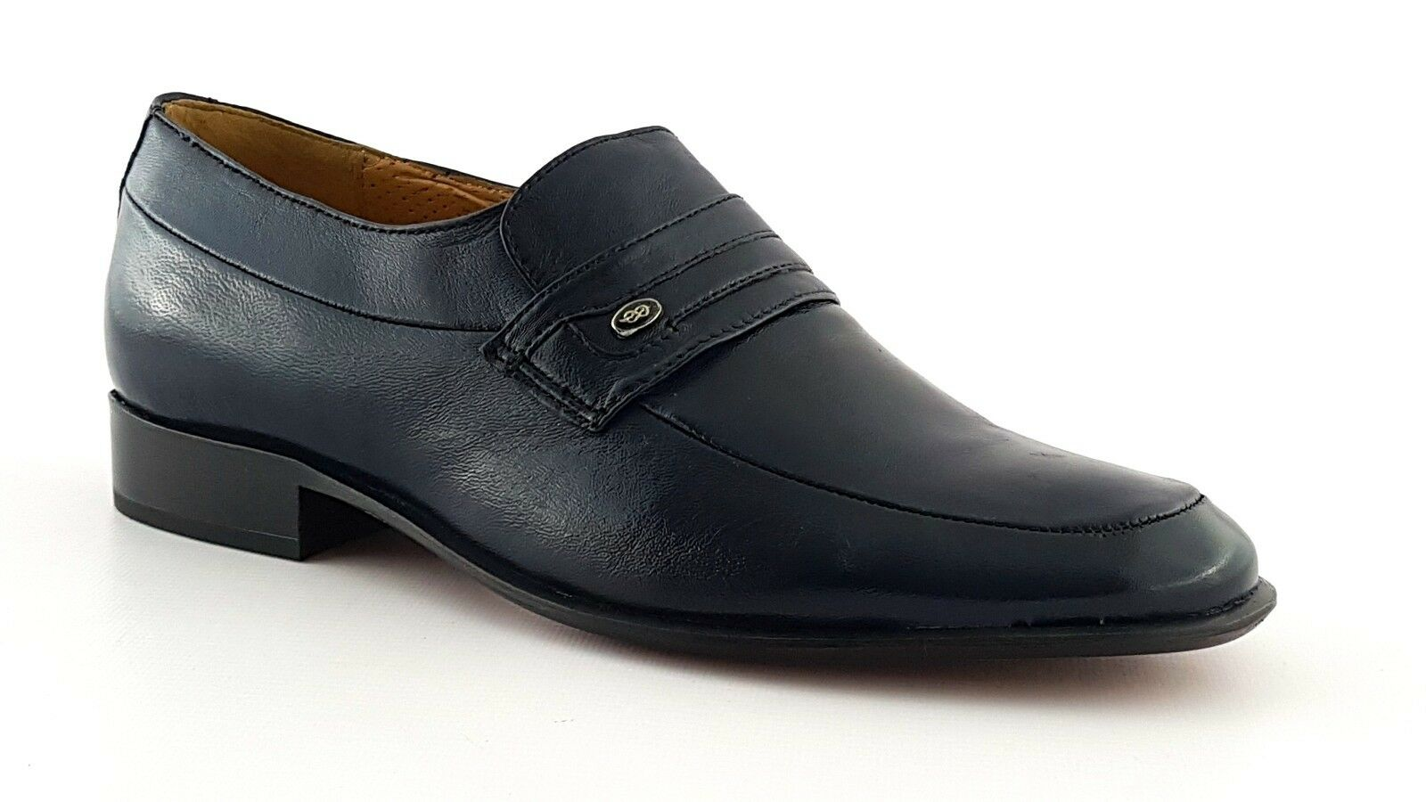 PENNE SHOES  mocassini in Italy  5574-N ble nappa