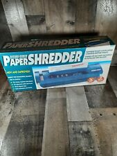 Paper Shredder Secure Shred 5 Sheet Capacity 14 Strip Cut New Old Stock
