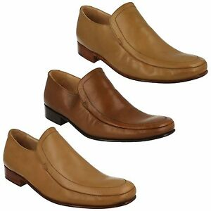 hombre-Grenson-Dakota-Formal-Estilo-Marron-Tostado-Zapatos-SIN-CIERRES-talla-UK
