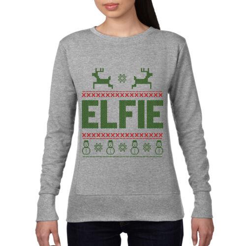 Elfie Selfie Funny Christmas Jumper Elf Top Geek Candy Sweatshirt Xmas Gift CH25