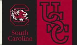 NCAA-Licensed-South-Carolina-Gamecocks-3-039-x-5-039-FLAG-w-Grommets-Banner-New