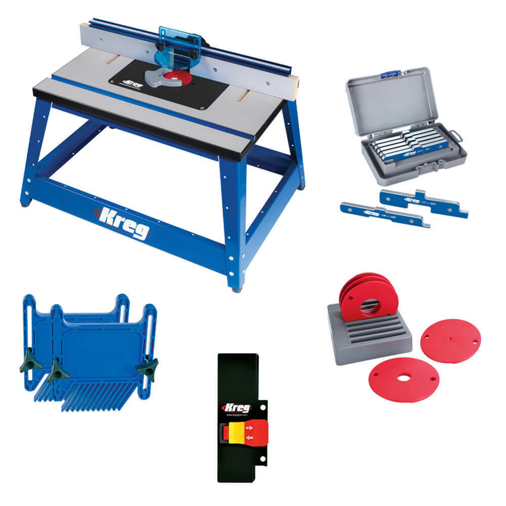 Kreg PRS2100-KIT Multi-Purpose Benchtp Router Table and Accessories Bundle Kit