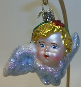 OLD WORLD CHRISTMAS ORNAMENT GARDEN CHERUB ANGEL