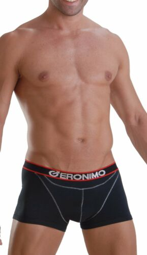 GERONIMO Mens Underwear Stylish Black or Grey Boxer Bamboo Hipster