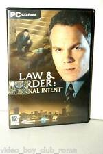 LAW & ORDER CRIMINAL INTENT 2 GIOCO USATO BUONO PC EDIZIONE ITALIANA PAL 30518