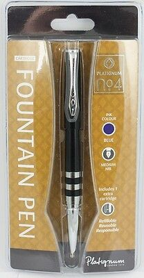 Platignum Number 2 Rollerball Pen BLACK New Gift Boxed