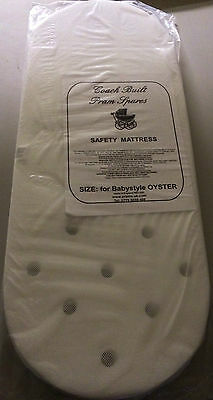 BREATHABLE SAFETY PRAM MATTRESS FOR BABY STYLE OYSTER CARRYCOT PRAM babystyle
