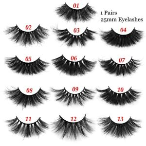 a21dc1eda16 Image is loading Fluffy-Eyelashes-Extension-3D-Mink-Lashes-Thick-Long-