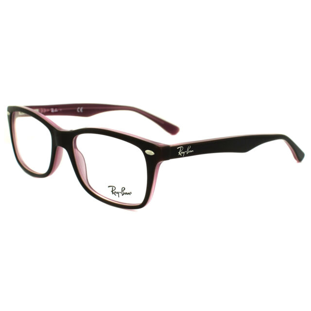 61559a8f60a Ray-Ban Glasses Frames 5228 2126 Top Brown on Opal Pink Clear 53mm