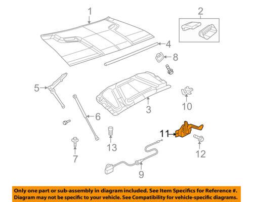 Dodge CHRYSLER OEM 08-18 Challenger Hood-Latch Assembly 4816182AB