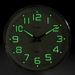Large Non Ticking Wall Clock Glow In The Dark Silent