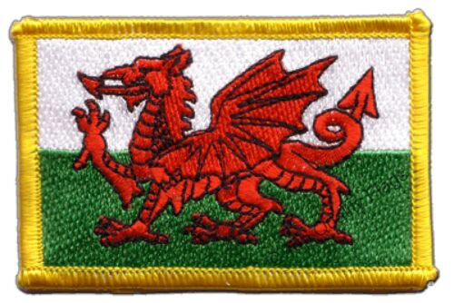 Wales Flag EMBROIDERED PATCH 8x6cm Badge