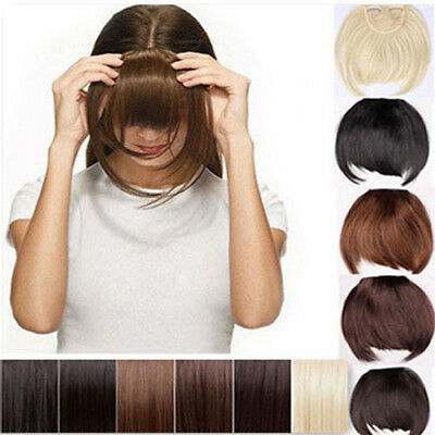 global shipping clip in front bangs fringe hair extension straight curly lady wm