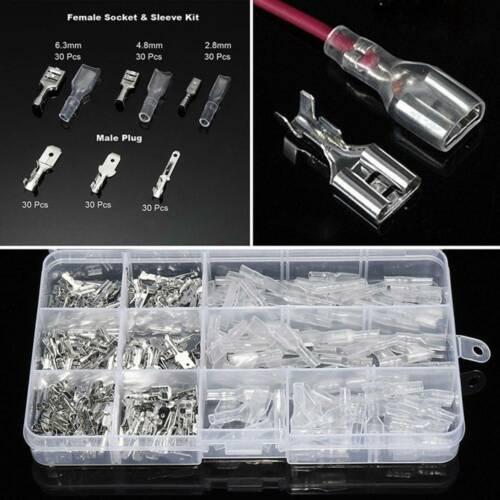 270 pcs 2.8//4.8//6.3mm Insulated Electrical Wire Crimp Terminal Spade Connector