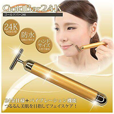 #W/Tracking Facial Beauty Massager GOLD BAR 24K (beauty effect) New Japan F/S