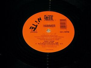 "HAMMER Don't Stop 4 Mixes 1994 Giant 0-41473 12"" Vinyl Rap Hip-Hop Maxi Single"